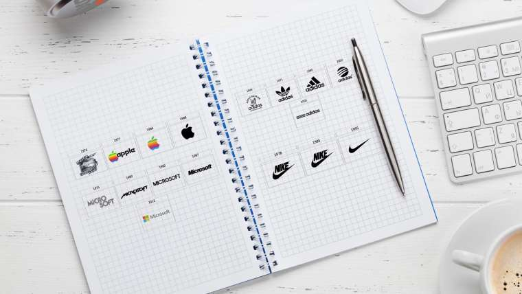 Logo Evolution Of  Famous Brands